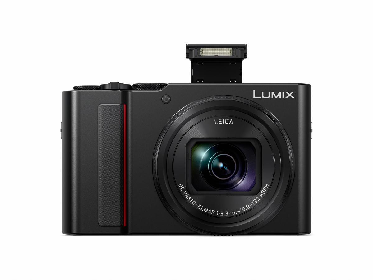 Panasonic Lumix Tz202 Schwarz Produktbild Front Flash 1518177367.9246